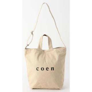 coen - M【限定カラー】A4サイズOK coen2WAYロゴトートバッグ