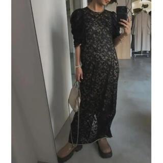 Ameri VINTAGE - AMERI VINTAGE SHINE COATING LACE DRESS