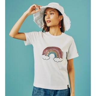 ダブルスタンダードクロージング(DOUBLE STANDARD CLOTHING)のダブスタ★DSC/レインボースパンコールTシャツ★ホワイト(Tシャツ/カットソー(半袖/袖なし))