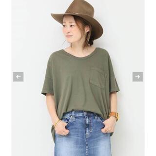ドゥーズィエムクラス(DEUXIEME CLASSE)のDeuxieme Classe  SKARGORN ワイドTシャツ カーキ(Tシャツ(半袖/袖なし))