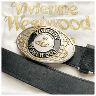Vivienne Westwood - 美品⭐️ヴィヴィアンウエストウッド ゴールドオーブ シルバーバックル レザー