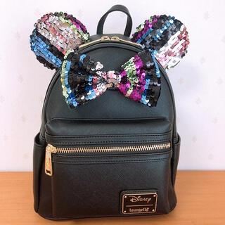 Disney - ラウンジフライ ディズニー ミニー スパンコール リュック バックパック