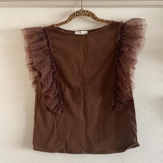 アクアガール(aquagirl)のaquagirl 肩フリルトップス(カットソー(半袖/袖なし))