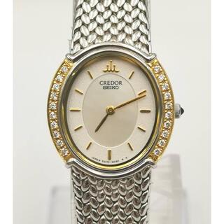 セイコー(SEIKO)のCREDOR クレドール 5A70-3000K18YG/SS ダイヤ 時計(腕時計)