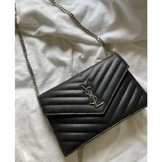 Yves Saint Laurent Beaute - 超美品 サンローラン チェーンウォレット チェーンバッグ