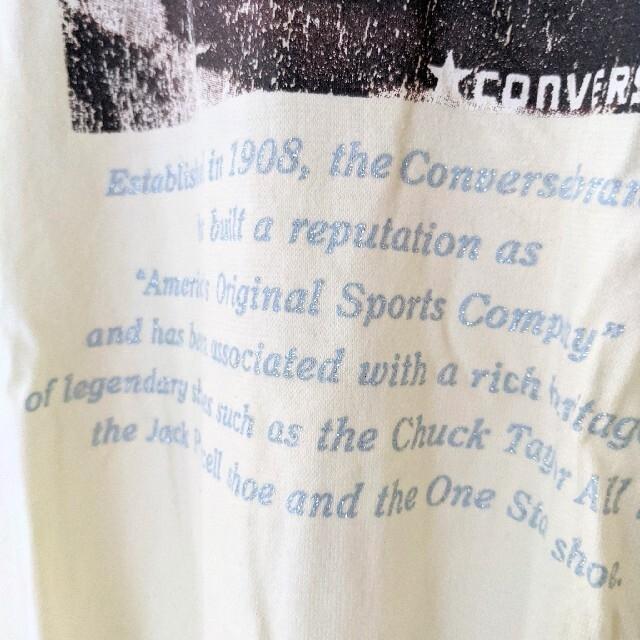 CONVERSE(コンバース)のCONVERSE 半袖Tシャツ レディースM クリームイエロー 古着 コンバース レディースのトップス(Tシャツ(半袖/袖なし))の商品写真