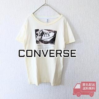 CONVERSE - CONVERSE 半袖Tシャツ レディースM クリームイエロー 古着 コンバース