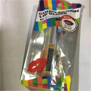 サクラクレパス(サクラクレパス)の限定色 クーピー柄 リップグロス シャンパンゴールド ①(リップグロス)
