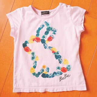 ベベ(BeBe)のBeBe 90☆ ラベンダーピンク☆Tシャツ(Tシャツ/カットソー)