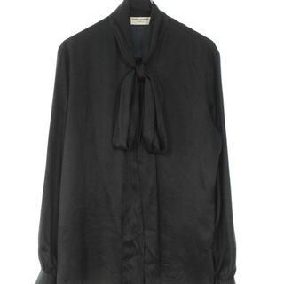 Saint Laurent - サンローラン 20ss リボン付きシルクシャツ
