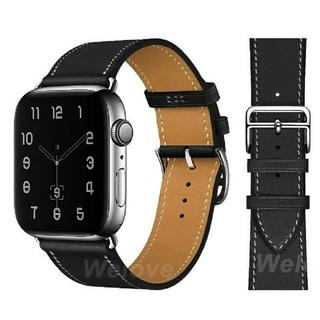 Apple Watch レザーバンド 38/40mm  ブラック