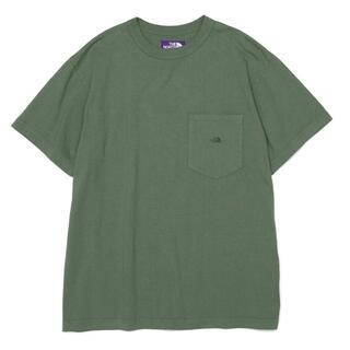 ザノースフェイス(THE NORTH FACE)のノースフェイスパープルレーベル 7ozポケットTシャツ L グラスグリーン(Tシャツ/カットソー(半袖/袖なし))