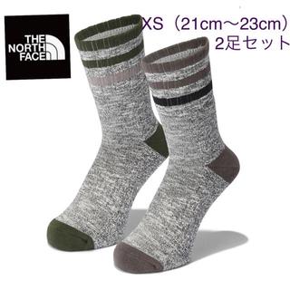 THE NORTH FACE - 新品タグ付き THENORTHFACE コットン ボーダー ソックス2P ①