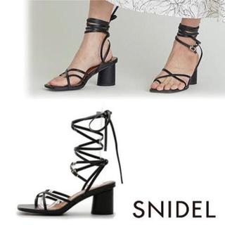 snidel - snidel レースアップサンダル
