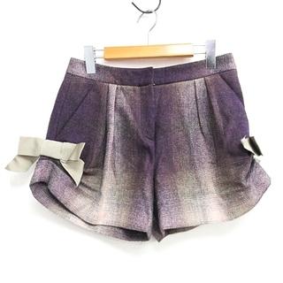 クリスチャンディオール(Christian Dior)のクリスチャンディオール グラデーション ショートパンツ  シルク サイドリボン(ショートパンツ)
