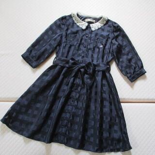 pom ponette - 子供服 ポンポネット ネイビー 濃紺 ワンピース S(140)美品