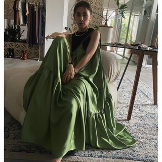 Ameri VINTAGE - MEDI SILKY STRAP DRESS エイミー ザラ フレイアイディー