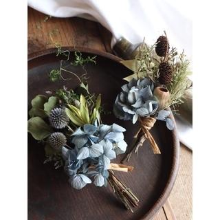 夏・秋 藍色紫陽花スワッグ。ドライフラワースワッグ。インテリアスワッグ(ドライフラワー)