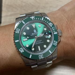 アベイシングエイプ(A BATHING APE)のBAPEX TYPE1 GREEN グリーン (腕時計(アナログ))