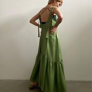 アメリヴィンテージ(Ameri VINTAGE)のAmeriVINTAGE 新作完売品 MEDI SILKY STRAP ドレス(ロングワンピース/マキシワンピース)