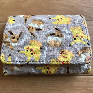 ポケモン - ポケモン[3つ折り財布]ミニウォレット/ピカチュウ&イーブイ