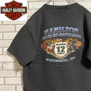 ハーレーダビッドソン(Harley Davidson)の90s 古着 ハーレーダビッドソン メキシコ製 バックプリント ビッグプリント(Tシャツ/カットソー(半袖/袖なし))