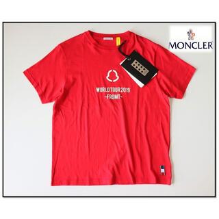 MONCLER - 《モンクレール》新品正規品 イタリア製 ワールド ツアー Tシャツ 赤 M