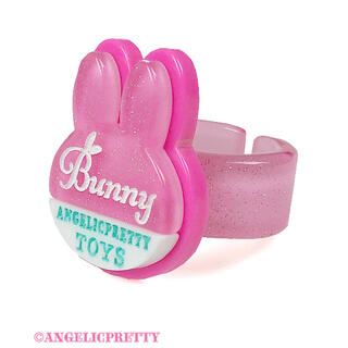 Angelic Pretty - angelic pretty  bunny tag リング ピンク