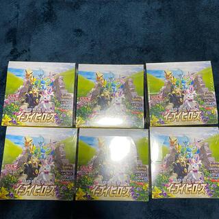 【シュリンク付き未開封】イーブイヒーローズ BOX 6boxポケモンカードゲーム(Box/デッキ/パック)