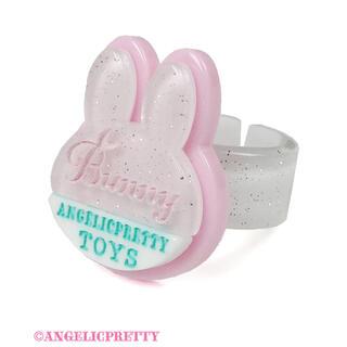 アンジェリックプリティー(Angelic Pretty)のangelic pretty  bunny tag リング シロ(リング(指輪))