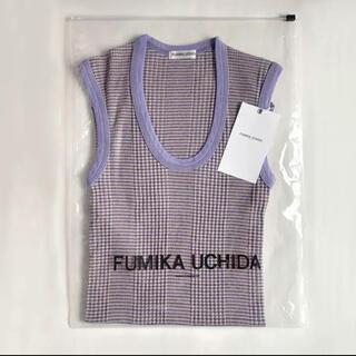 ジョンリンクス(jonnlynx)の新品 FUMIKA_UCHIDA BORDER U-NECK NO-SLEEVE(タンクトップ)
