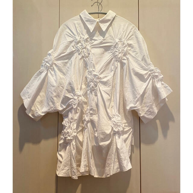 COMME des GARCONS(コムデギャルソン)のSimone Rocha シモーネロシャ ギャザーシャツ  レディースのトップス(シャツ/ブラウス(半袖/袖なし))の商品写真