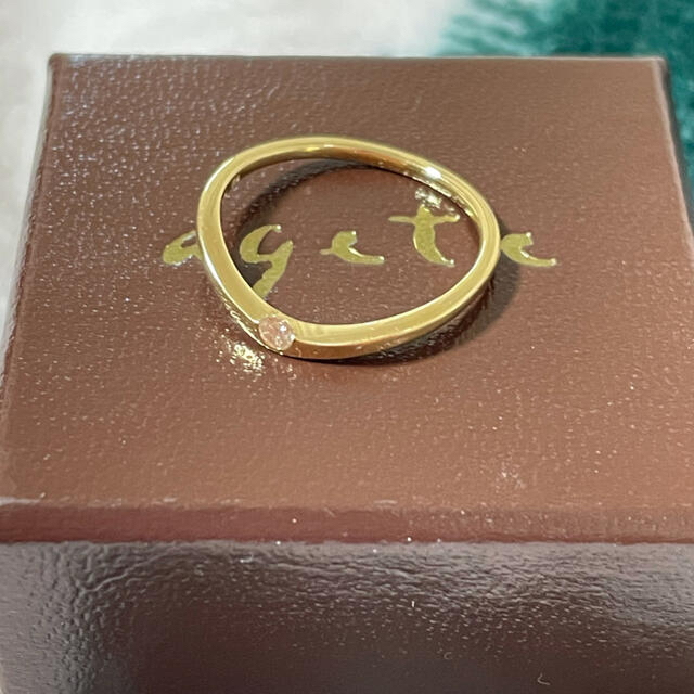 agete(アガット)のagete ダイヤモンドリング レディースのアクセサリー(リング(指輪))の商品写真