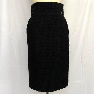 CHANEL - CHANEL シャネル ツイード スカート ブラック 36