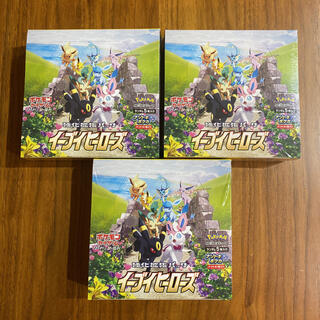 ポケモン(ポケモン)の新品未開封 ポケモンカードゲーム イーブイヒーローズ 3BOX シュリンク付(Box/デッキ/パック)