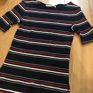テチチ(Techichi)のルノンキュールリブTシャツボーダー(Tシャツ(半袖/袖なし))
