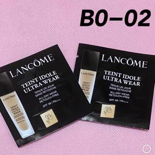 ランコム(LANCOME)のランコム タンイドル ウルトラ ウェア リキッド BO-02 サンプル 2枚(ファンデーション)