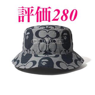 アベイシングエイプ(A BATHING APE)のBape × Coach Bucket Hat ベイプ コーチ バゲハ Mサイズ(ハット)