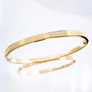 Cartier - 【保証書付】カルティエ ラブブレス SM YG 17 ダイヤ レディース ブレス