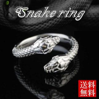 蛇 指輪 スネーク リング ウロボロス シルバー メンズ レディース 双頭