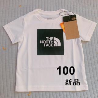 THE NORTH FACE - ★ノースフェイス スクエアロゴTシャツ キッズ 半袖 100サイズ★新品