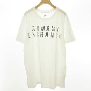 アルマーニエクスチェンジ(ARMANI EXCHANGE)のアルマーニエクスチェンジ ロゴ 箔プリント Tシャツ カットソー L ホワイト(Tシャツ/カットソー(半袖/袖なし))