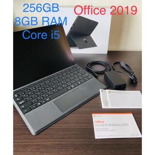 マイクロソフト(Microsoft)のsurface pro6 ブラック (Office 2019 プロダクトキー付)(ノートPC)