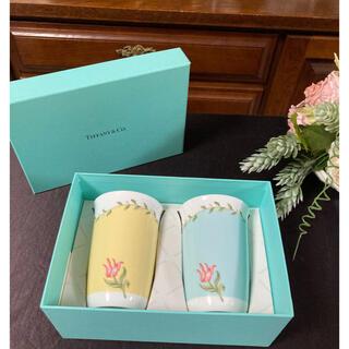 Tiffany & Co. - ティファニー   TIFFANY  ピンクチューリップ ペアフリーカップセット