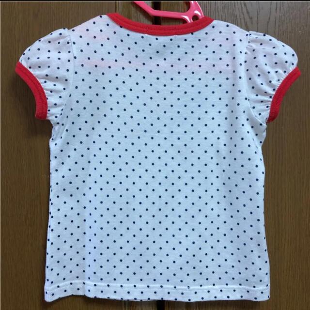 familiar(ファミリア)のファミリア 半袖 シャツ Tシャツ 水玉 100 お揃い 90もあります  キッズ/ベビー/マタニティのキッズ服女の子用(90cm~)(Tシャツ/カットソー)の商品写真