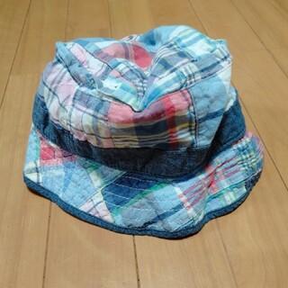 ベビーギャップ(babyGAP)の53~54cm M/L babyGAP 帽子 チェック柄(帽子)