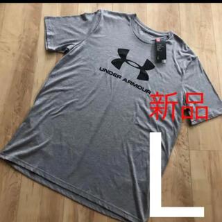 UNDER ARMOUR - ☆新品☆アンダーアーマー メンズヒートギアTシャツ グレー Lサイズ