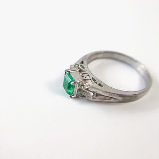 ヴィンテージシルバーリング 11号 エメラルドグリーン指輪アクセサリージュエリー(リング(指輪))