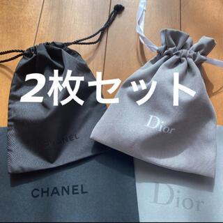 CHANEL - ❤️シャネル & ディオール ミニ 巾着 ポーチ 2枚セット❤️