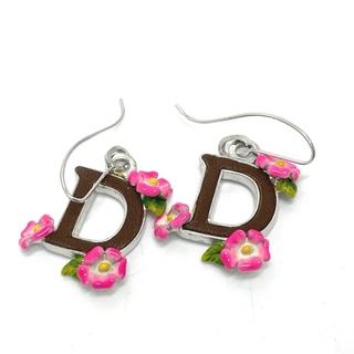 ディオール(Dior)のディオール D ロゴ ピアス アクセサリー  シルバー(ピアス)